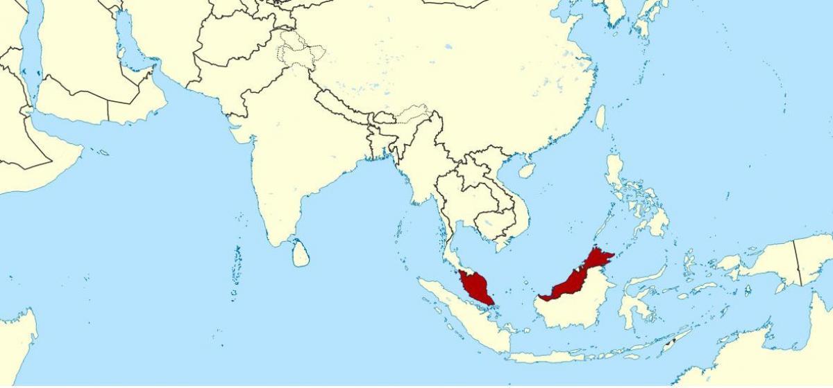Malesia Kartalla Kartta Nayttaa Malesia Kaakkois Aasia Aasia